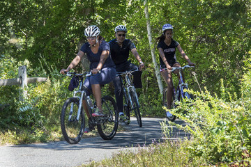 Michelle Obama Barack Obama Vacations in Martha's Vineyard