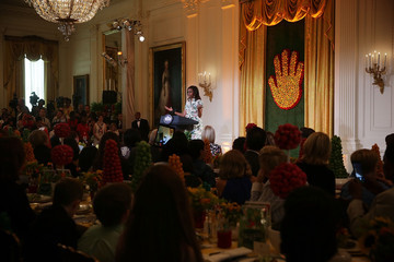 Michelle Obama President Obama Visits First Lady's Kids' Luncheon at White House