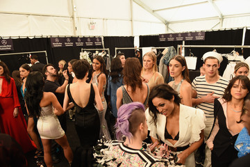 Michelle Rodriguez Naomi Campbell's Fashion For Relief Charity Fashion Show - Backstage