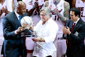 Micky Arison Indiana Pacers v Miami Heat