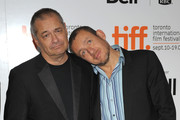 """Writer/director Jean-Pierre Jeunet (L) and actor Dany Boon arrive at the """"Micmacs"""" screening during the 2009 Toronto International Film Festival held at Roy Thomson Hall on September 15, 2009 in Toronto, Canada."""