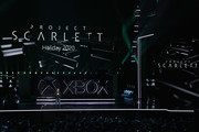 Phil Spencer, Executive President of Gaming at Microsoft, speaks about 'Project Scarlett' during the Xbox E3 2019 Briefing at The Microsoft Theater on June 09, 2019 in Los Angeles, California.