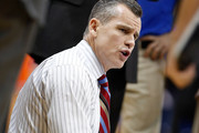 Head coach Billy Donovan of the Florida Gators directs his team against the Middle Tennessee Blue Raiders during the game at the Tampa Bay Times Forum on November 18, 2012 in Tampa, Florida.