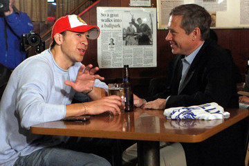 Alexi Giannoulias Midterm Election Winner Mark Kirk Meets With Opponent Giannoulias At Chicago Bar
