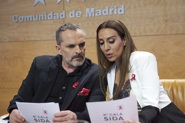 Miguel Bose 'Gala Sida' 2017 Presentation in Madrid