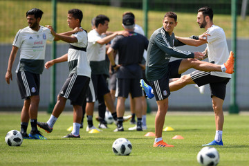 Miguel Layun Mexico Training And Press Conference - FIFA World Cup Russia 2018