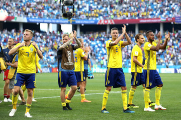 Mikael Lustig Sweden Vs. Korea Republic: Group F - 2018 FIFA World Cup Russia