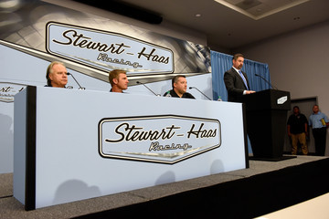 Mike Arning Stewart-Haas Racing Press Conference Featuring Tony Stewart