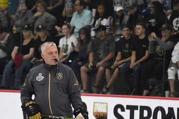 Mike Kelly Vegas Golden Knights Hold First Practice Since Winning Western Conference Finals