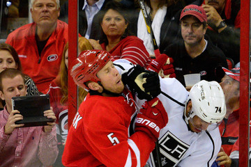 Mike Komisarek Los Angeles Kings v Carolina Hurricanes