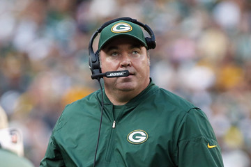 Mike McCarthy Seattle Seahawks v Green Bay Packers