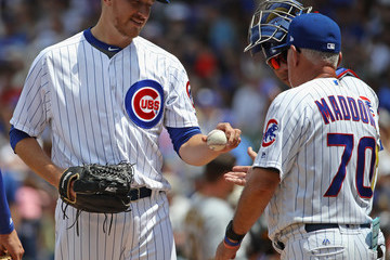 Mike Montgomery Pittsburgh Pirates v Chicago Cubs