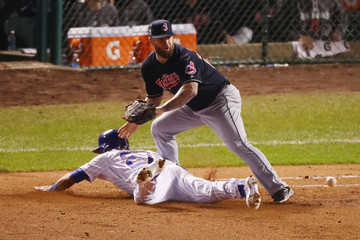 Mike Napoli World Series - Cleveland Indians v Chicago Cubs - Game Four
