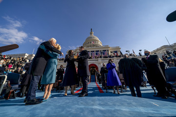 Mike Pence Joe Biden Sworn In As 46th President Of The United States At U.S. Capitol Inauguration Ceremony
