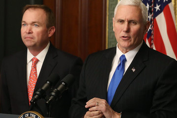 Mike Pence Mick Mulvaney Vice President Pence Swears In Mick Mulvaney As OMB Director