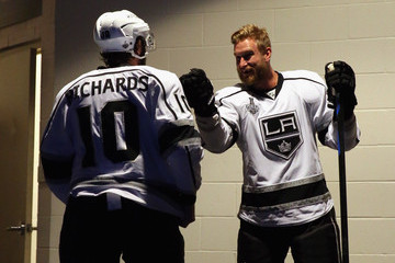 Mike Richards Jeff Carter NHL Stanley Cup Final: Game Three