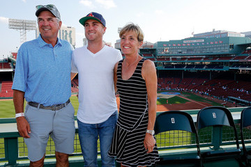 Mike Thomas Justin Thomas Throws First Pitch At Boston Red Sox Game