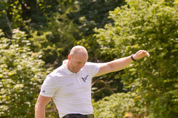 Mike Tindall Celebrity Cup at Celtic Manor Resort - Day One