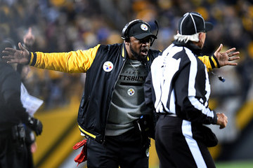 Mike Tomlin Baltimore Ravens v Pittsburgh Steelers