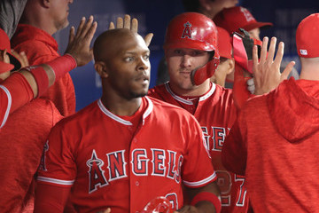 Mike Trout Los Angeles Angels Of Anaheim vs. Toronto Blue Jays