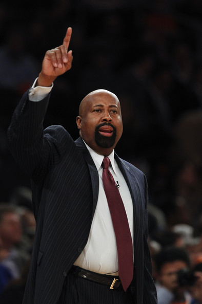 Mike woodson head coach mike woodson of the new york knicks calls from