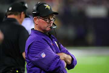 Mike Zimmer New Orleans Saints v Minnesota Vikings