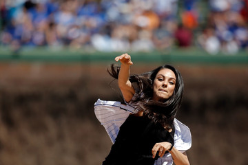 Mila Kunis Pittsburgh Pirates v Chicago Cubs