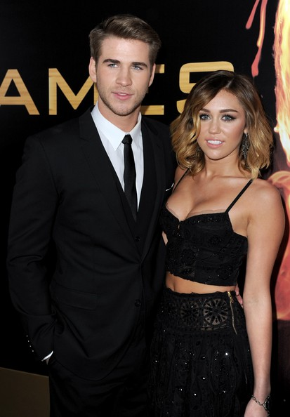 """Miley Cyrus - Premiere Of Lionsgate's """"The Hunger Games"""" - Red Carpet"""