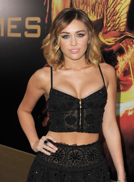 "Miley Cyrus - Premiere Of Lionsgate's ""The Hunger Games"" - Red Carpet"