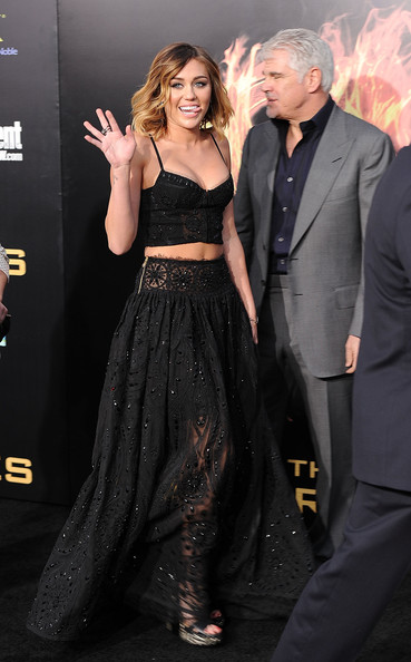 "Miley Cyrus - Premiere Of Lionsgate's ""The Hunger Games"" - Arrivals"