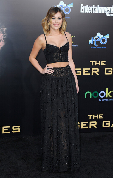 """Miley Cyrus - Premiere Of Lionsgate's """"The Hunger Games"""" - Arrivals"""