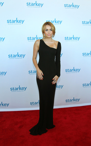 "Miley Cyrus Singer Miley Cyrus attends the Starkey Hearing Foundation's ""So The World May Hear Awards Gala"" 2011 at River Centre on July 24, 2011 in St. Paul, Minnesota."