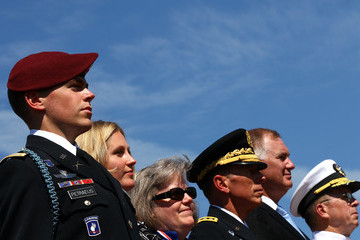 Holly Petraeus U.S. Military Holds Tribute And Retirement Ceremony For David Petraeus