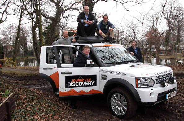 bear grylls in the millionth land rover discovery is made zimbio. Black Bedroom Furniture Sets. Home Design Ideas
