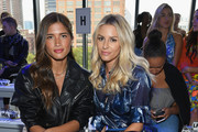 Rocky Barnes and Morgan Stewart attend the Milly by Michelle Smith front row during New York Fashion Week: The Shows at Gallery II at Spring Studios on September 7, 2018 in New York City.