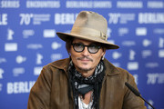 """Johnny Depp is seen at the """"Minamata"""" press conference during the 70th Berlinale International Film Festival Berlin at Grand Hyatt Hotel on February 21, 2020 in Berlin, Germany."""