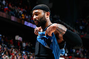 Mo Williams #25 of the Minnesota Timberwolves walks off the court after their 112-100 loss to the Atlanta Hawks at Philips Arena on January 25, 2015 in Atlanta, Georgia.  NOTE TO USER: User expressly acknowledges and agrees that, by downloading and or using this photograph, User is consenting to the terms and conditions of the Getty Images License Agreement.