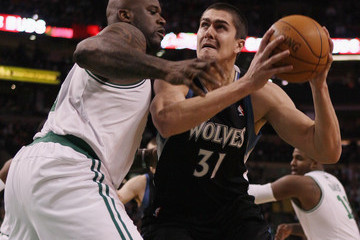 Darko Milicic Minnesota Timberwolves v Boston Celtics