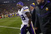Adrian Peterson #28 of the Minnesota Vikings walks off the field to the locker room during the third quarter against the Green Bay Packers at Lambeau Field on January 3, 2016 in Green Bay, Wisconsin.