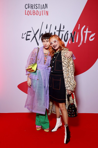 Christian Louboutin Presents During - Paris Fashion Week Womenswear Fall/Winter 2020/2021 - Exhibition Opening 'L'Exhibition[niste]' [pink,red carpet,fashion,carpet,magenta,flooring,footwear,premiere,event,outerwear,christian louboutin,miranda makaroff,greta fernandez,niste,part,paris,paris fashion week womenswear fall,christian louboutin presents,exhibition opening of lexibition,exhibition opening lexhibition,red carpet,celebrity,fashion,fashion design,socialite,eyewear,pink m,carpet,design,glasses]