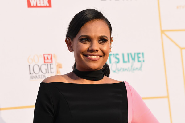 2018 Logie Awards - Arrivals [face,hair,beauty,hairstyle,fashion,cheek,forehead,smile,fashion design,black hair,arrivals,miranda tapsell,logie awards,the star gold coast,australia,60th annual logie awards]