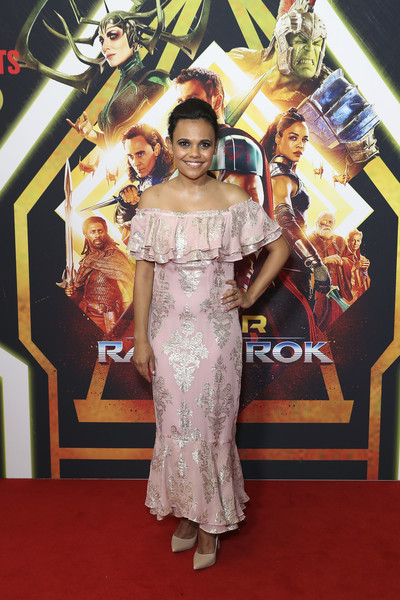 'Thor: Ragnarok' Sydney Screening Event [red carpet,carpet,dress,flooring,fashion,premiere,fashion design,formal wear,event,gown,thor,miranda tapsell,sydney,australia,thor: ragnarok sydney screening event,ragnarok sydney screening event]