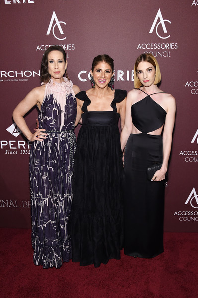 Accessories Council Hosts The 23rd Annual ACE Awards - Arrivals [dress,clothing,fashion,carpet,premiere,red carpet,fashion model,flooring,event,gown,molly bernard,jacqueline demeterio,miriam shor,ace awards,l-r,annual ace awards,new york city,accessories council]