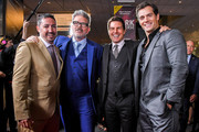 (L-R) Jake Myers, Christopher McQuarrie, Tom Cruise and Henry Cavill attend the 'Mission: Impossible - Fallout' US Premiere at Lockheed Martin IMAX Theater at the Smithsonian National Air & Space Museum on July 22, 2018 in Washington, DC.