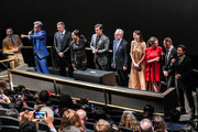 (L-R) Jake Myers, Christopher McQuarrie, Frederick Schmidt, Angela Bassett, Henry Cavill, Wolf Blizter, Michelle Monaghan, Rebecca Ferguson, Simon Pegg and Tom Cruise attend the 'Mission: Impossible - Fallout' US Premiere at Lockheed Martin IMAX Theater at the Smithsonian National Air & Space Museum on July 22, 2018 in Washington, DC.