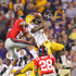 Korvic Neat Photos - Patrick Peterson #7 of the Louisiana State University Tigers nearly intercepts a pass in the final seconds against Markeith Summers #16 and Korvic Neat #28 of the Ole Miss Rebels as time expired at Tiger Stadium on November 20, 2010 in Baton Rouge, Louisiana. - Mississippi v LSU