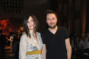 Francesco Vezzoli and Teresa Missoni attend the Missoni show as part of Milan Fashion Week Menswear Spring/Summer 2015 on June 22, 2014 in Milan, Italy.