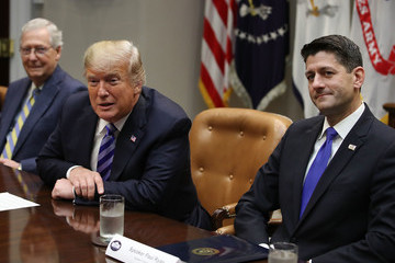Mitch McConnell President Trump Meets With Republican Congressional Leadership