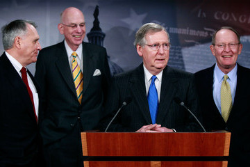 Ted Kennedy Mitch McConnell (R-KY) And Senate Republicans Discuss Last Night's Election
