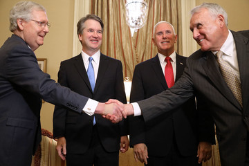 Mitch McConnell Supreme Court Nominee Brett Kavanaugh Meets With VP Pence And Sen. McConnell